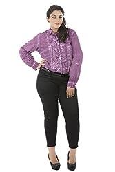 Plum Tie-N-Dye Full Sleeve Shirt