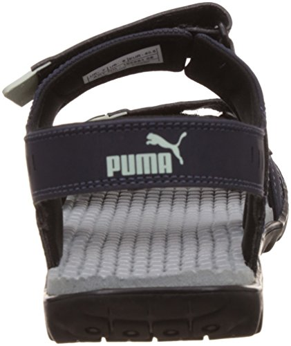 Buy Puma Men s Silicis Buck DP Peacoat Quarry and Green Lily Leather Sandals  and Floaters - 8 UK India (42 EU) on Amazon  0c2729b247