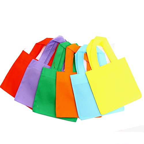 "Dazzling Toys Poly Non-woven Tote Bags 6"" Party Bag - Pack of 24 (D074)"