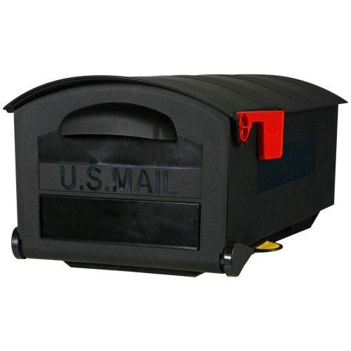 "Rubbermaid Mb515b01 Black Durable 22.3""x12.1""x9.7"" Plastic Post-mount Mailbox"