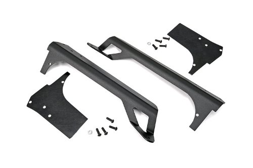 Rough Country 70503 - 50-Inch Led Light Bar Upper Windshield Mounting Brackets (Jeep Tj/Lj - Painted) For Jeep: Wrangler Tj 4Wd, Wrangler Unlimited Lj 4Wd