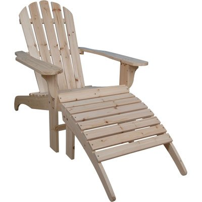 Cedar Adirondack Chair with Ottoman, Model# CS-001KD-O