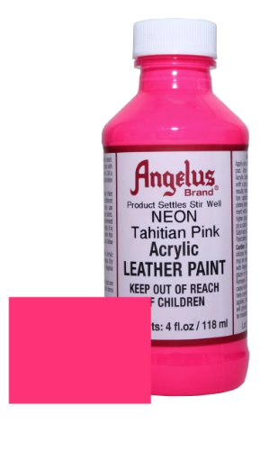 Angelus Neon Acrylic Leather Paint-4oz.- Tahitian Pink Neon (Angelus Leather Paint Neon Colors compare prices)
