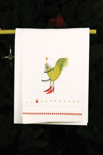 Patience Brewster French Hen Tea Towel