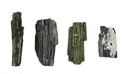 147 Ct Epidote Green 4 Crystals Minas Gerais Brazil