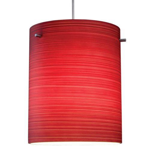 "Regal 1 Light Led Mini Pendant Size: 4"" With Junction Box, Finish: Bronze, Shade Color: Merlot Texture"