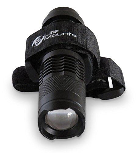 LED Tactical/Hunting Vest and Backpack Light with Strap Mount By Life Mounts - Shoulder Mounted Safety Lighting - Powerful Coverage