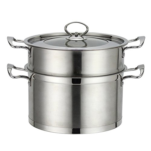 YOULANDA Stainless Steel Steamer Cookware Stockpot, 5 Quart Silver Tone (Silver Tone) (Induction Crab Pot compare prices)