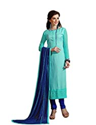 Mantra Fashion New Designer Embroidery Long A-Line Salwar Suit - B016F7ZL32