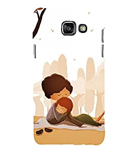 Fuson Premium Back Case Cover Lovely hug With Yellow Background Degined For Samsung Galaxy A5(2016)::Samsung Galaxy A5 A510F
