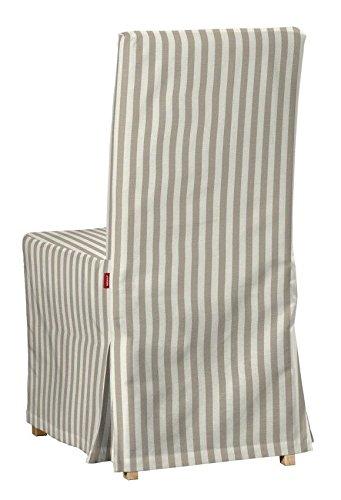 Dekoria-IKEA-Boden-Lnge-HENRIKSDAL-Stuhl-Cover-Beige-und-Wei-Streifen-15-cm