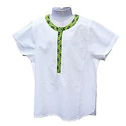 Aummade Summer Baby Boy's shirt, white and green, 12-18 months
