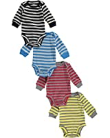 "Carter's Baby Boys' ""All Stripe"" 4-Pack L/S Bodysuits"