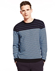 Autograph Supima® Cotton Rich Multi-Striped Jumper