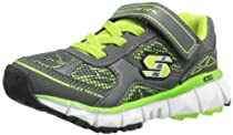 Skechers Kids 95462L X 2.0 Cue Sneaker,Charcoal/Lime,11 M US Little Kid