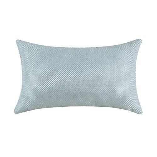 Euphoria High Class Small Checks Texture Home Sofa Decorative Cushion Covers Pillows Shell Heavy Thick Dawn Blue Color 12