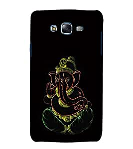 printtech Lord God Ganesha Back Case Cover for Samsung Galaxy A7 / Samsung Galaxy A7 A700F