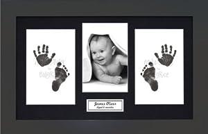 Anika-Baby BabyRice - Kit para huellas de bebé (incluye marco de fotos de madera)