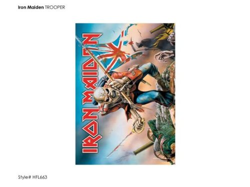 Heart Rock Licensed Bandiera Iron Maiden - Trooper, Tessuto, Multicolore, 110X75X0,1 cm