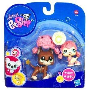 Buy Low Price Hasbro Littlest Pet Shop 2010 Assortment A Series 4 Collectible Figure Boxer Poodle (B003V59XEA)