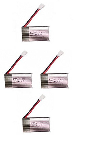 3.7V 680mAh 20C Batteries with 4 in 1 X4 Battery Charger for Syma X5C