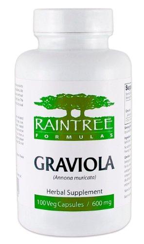 Raintree Graviola (Annona muricata) 600mg 100 Vegetarian Capsules