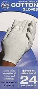 CARA  Model 840 Cotton Glove Dispenser Box, Extra Large, 24 Count
