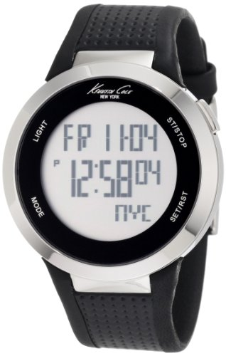 Kenneth Cole New York Unisex KC1697 Digital Silver Screen Dial Watch