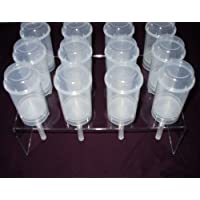 Push up Pop Container Acrylic Stand - Holds 12 Containers