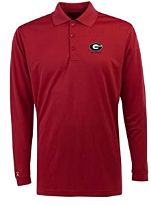 Georgia Long Sleeve Polo Shirt (Team Color) by Antigua