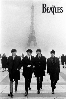 ビートルズ THE BEATLES in paris ポスター