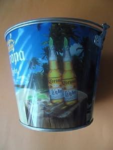 CORONA ICE BUCKET PARTY BOTTLE OPENER GIFT BAR PUB MEXICO BEER BOOZE STEEL NEW!