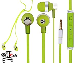 Jkobi Designer In Ear Bud Handsfree Headset Earphones With Mic Compatible For Amosta Eduone 7D2A -Green