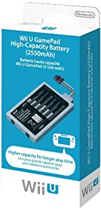 Batterie haute capacité 2 550 mAh pour Manette Wii U
