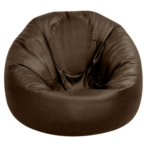 xxxl bean bags huge mega size brown rio bean bag faux leather beanbag gaming chair by hi. Black Bedroom Furniture Sets. Home Design Ideas