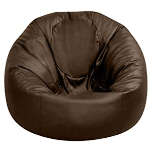 xxxl bean bags huge mega size brown rio bean bag faux leather beanbag gaming chair by hi. Black Bedroom Furniture Sets. Home Design Ideas