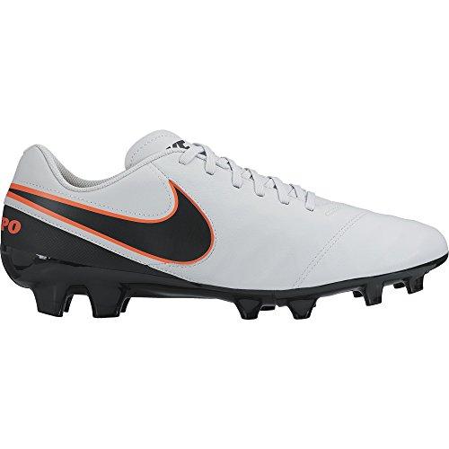 Nike Tiempo Genio Ii Leather Fg, Scarpe sportive, Uomo, Multicolore (Pure Platinum/Black-Hypr Orng), 42.5