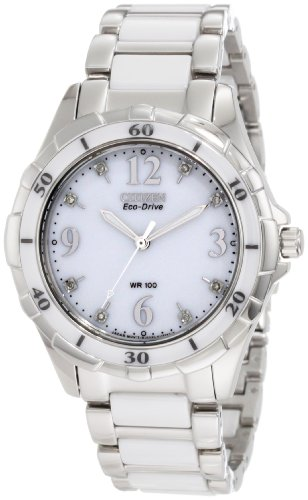 Citizen Women'S Em0030-59A Stainless Steel Eco-Drive Watch