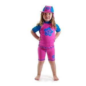 Amazon.com : Girls size 8 Pink/blue Sun UV Protective Rash
