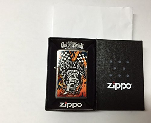 ZIPPO GAS MONKEY Street Chrome Windproof Pocket Lighter (Gas Zippo compare prices)