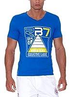 Rivaldi Camiseta Manga Corta Modi (Azul / Blanco)