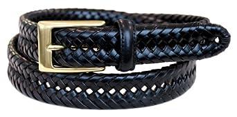 Dockers Men's 30mm Glazed Top Braid Belt,Black,46
