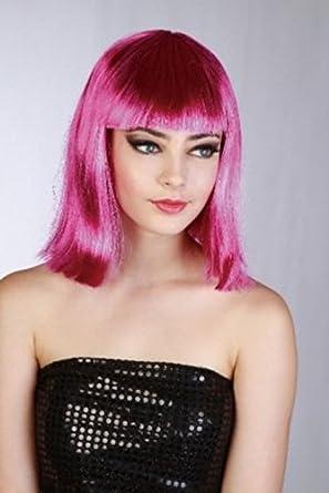 Sexy Fuschia Pop Star Wig