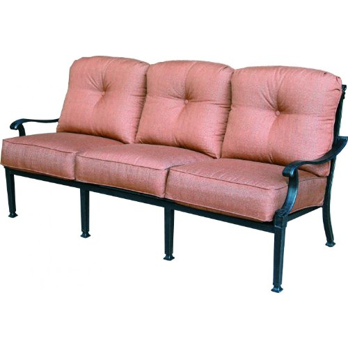Darlee Charleston Cast Aluminum Deep Seating Patio Sofa - Antique Bronze