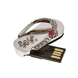 Quace 32 GB Metal Crystal Slipper Fancy USB Pen Drive