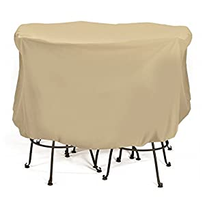 Two Dog Designs Two Dogs Designs 2D-PF74005 Bistro Set Cover - Khaki by Smart Solar