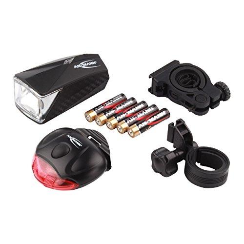 ANSMANN-LiteRider-Fahrrad-Licht-Set-LED-Vorder-Rcklicht-2-Halterungen-5x-AAA-Batterien-StVZO-22ATA23-zugelassen