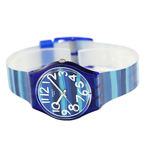Swatch Unisex GN237 Blue Plastic Watch 2