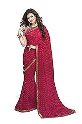 Hari Krishna sarees Self Design Bollywood Georgette Sari/F237
