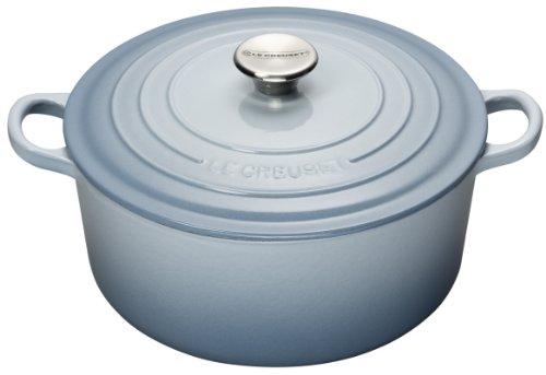 Le Creuset 26 cm Cast Iron Round Casserole, Coastal Blue